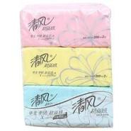 供应清风超质感200抽面巾纸 16提48包一箱  96元/箱