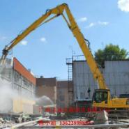 挖掘机三段加长臂20米图片