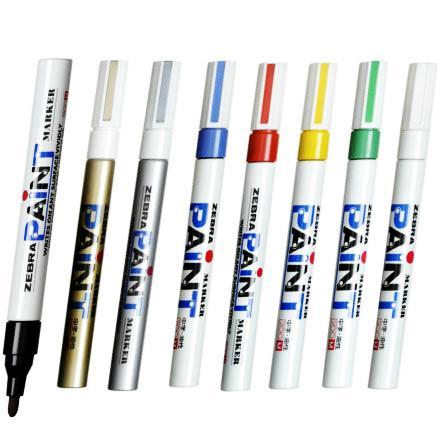 供应正品斑马油漆笔/油性马克笔/200M漆油笔