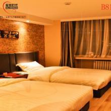 供应1.2M床架快捷酒店式标间套房板式整体软包床定制宾馆公寓简约全套家具批发