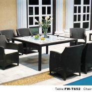 编藤桌椅酒吧桌椅阳台仿藤桌椅会议图片