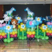 创意百日宴/百日宴气球装饰图片