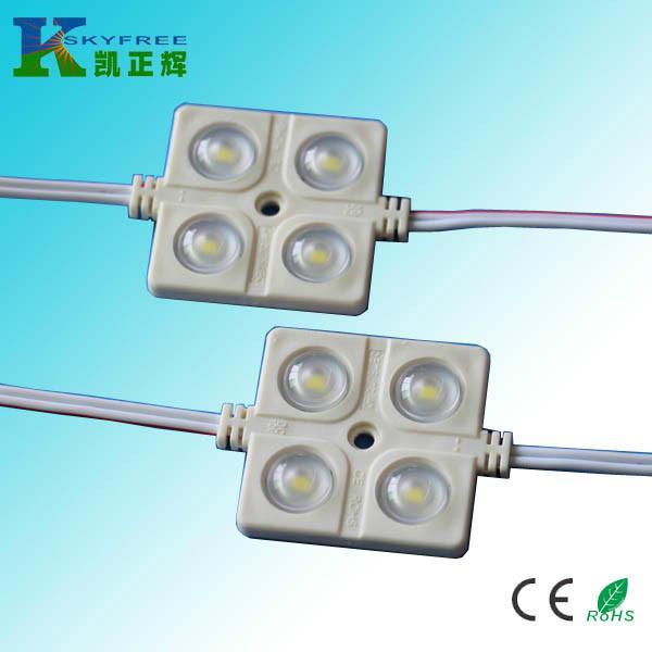 供应深圳4灯5630LED注塑模组 LED模组批发 LED透镜模组价格