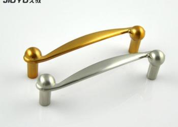 金色双孔锌合金拉手图片
