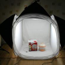 供应升级60cm摄影棚柔光箱套装LED摄影灯箱便携摄影器材拍照道具批发