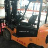 供应杭州叉车2.5吨二手电动叉车3节门架举高4.5米带左右侧移