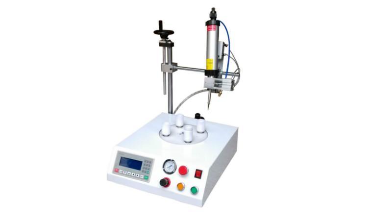 供应四工位射灯自动点胶机 PAR灯圆形自动点胶灌胶设备