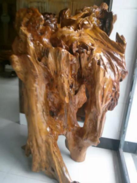 供应成都金丝楠木根雕摆件花开富贵