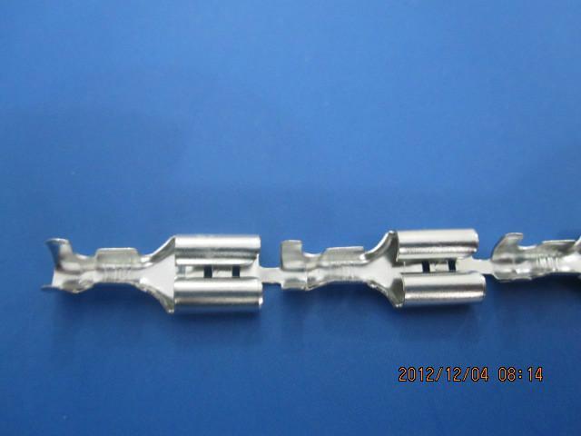 供应250直插插簧端子温州接插件插簧端子 乐清厂家直销插簧端子