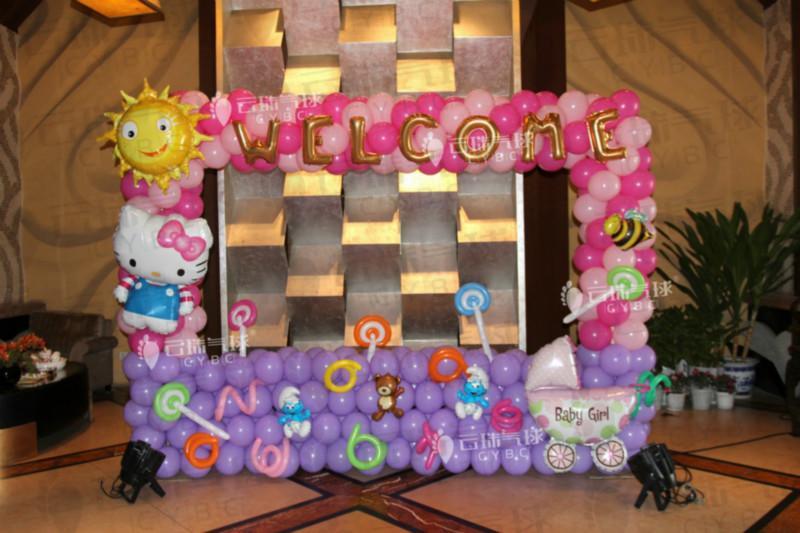 供应宝宝宴拍照区/宝宝宴舞台装饰图片