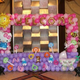 宝宝宴拍照区/宝宝宴舞台装饰图片