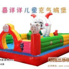河北张家口充气跳跳床小型现货 冬季室内儿童游乐玩具项目批发