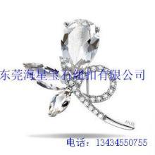 供应海星宝石水晶胸针高档胸针批发