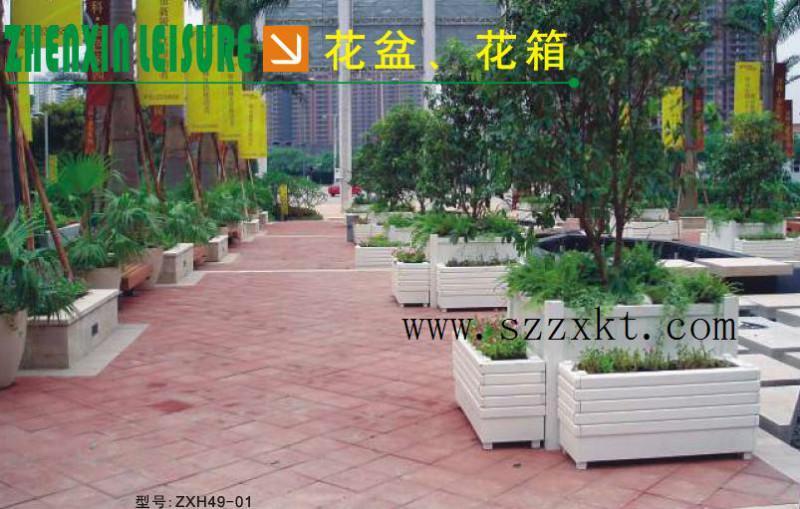 供应重庆防腐木花箱 小区组合花箱 组合花箱样板图