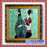 精品陶瓷壁画 彩绘礼品瓷板画 时尚装饰壁画
