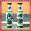 高档精美大花瓶 中国红小花瓶 婚庆一对陶瓷花瓶礼品