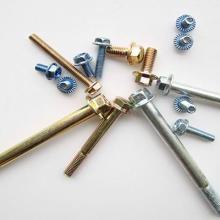 供应六角法兰面螺栓DIN6921碳钢8.8级蓝白锌彩锌