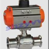 供应Q681F快装卫生级气动球阀,气动球阀,卫生球阀,卡箍球阀,不锈钢