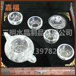 供应水晶工艺茶具套装大量批发