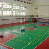 供应东莞户外蓝羽球场油漆施工、网球场地材料成本、体育场地面漆
