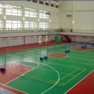 东莞露天篮羽球场油漆施工图片
