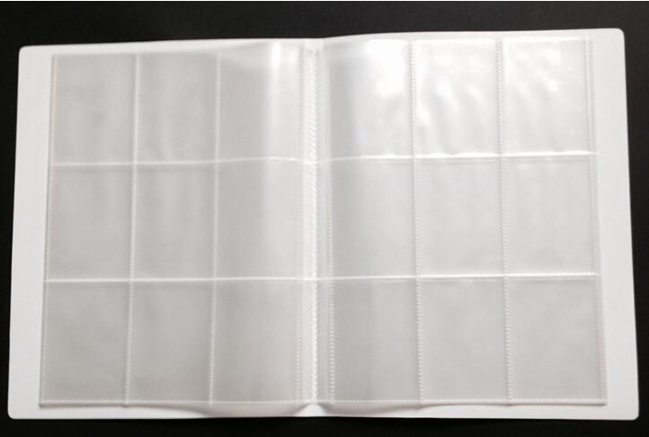 动漫18格卡片册/厂家定做 优质环保高透明18格PP球星卡/游戏卡卡片册