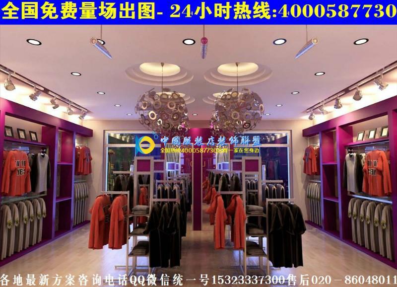 海南服装店橱窗装修设计欧式风格报价图片