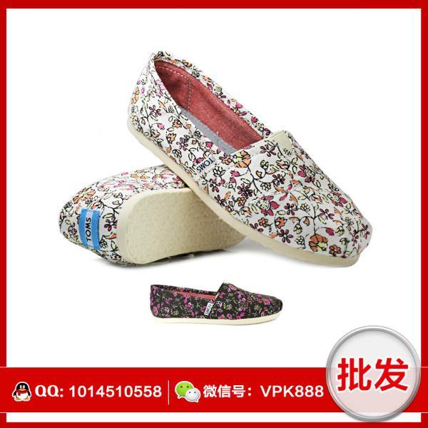 供应toms新款布鞋 正品碎花系列帆布女鞋