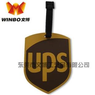 厂家专业生产UPS速递pvc软胶行李牌图片