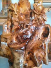 四川金丝楠木树根雕厂家图片