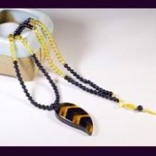 供应项链毛衣链(蓝砂石黄水晶)