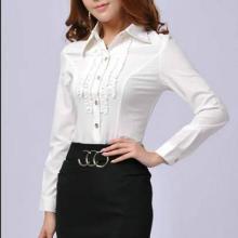 供应女长袖韩版修身职业装OL通勤装衬衫厂家直供