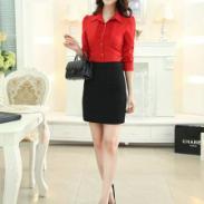新款韩版修身女士衬衫制服衬衫图片