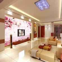 供应致富项目背景墙家装风景-冰晶画