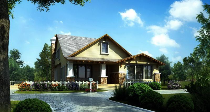 包头价格别墅每平方木屋别墅原图山坡的乡村图片