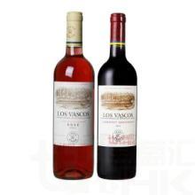 供应拉菲巴斯克赤霞珠+玫瑰红干红葡萄酒智利拉菲华诗歌双支组合批发