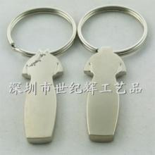 供应海南金属镀铬情侣钥匙扣定做批发
