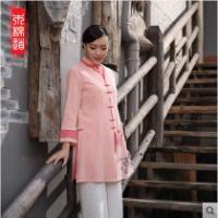 女士改良棉麻手绘传统民族风
