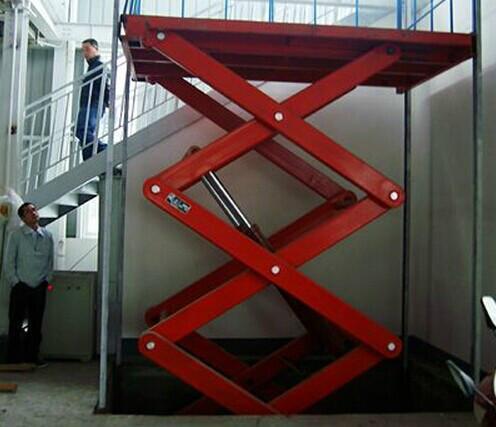 升降机图片  生产厂家:                          济南大声液压设备图片
