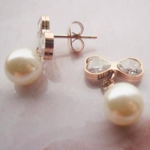 广东欧美珍珠耳钉价格图片