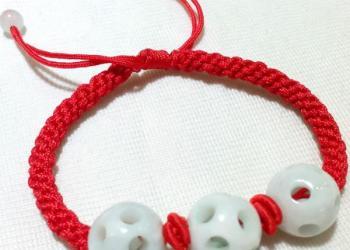 手工编织饰品红绳玛瑙手链手串图片