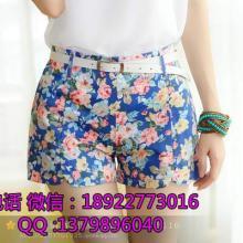 供应便宜女装短裤低级批发糖果短裤特价