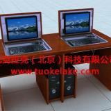 托克拉克多媒体教室课桌椅嵌入式电脑桌一桌多用