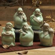 陶瓷茶宠福禄寿图片