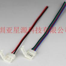 供应深圳50502pin10毫米灯条免焊连接器亚星源专业生产LED灯条快速连接器图片