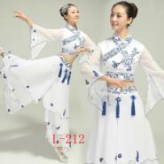 新款成人青花瓷演出服女古筝表演图片
