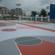 篮球场硅PU篮球场塑胶篮球场图片