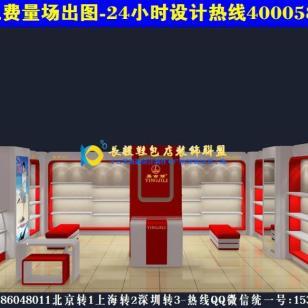 鞋包专卖店装修效果图展示货柜AN17图片