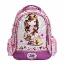 供应厦门幼儿园书包订做芭比紫色双肩包儿童书包小学生背包幼儿批发