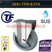 供应TF4寸重型欧式不锈钢超静音脚轮-超级人造胶不锈钢轮-抗穿刺不锈钢轮